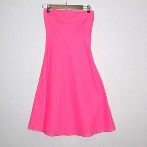 J.Crew lined  pink  strapless A-line dress